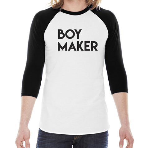 Boy Maker Black Baseball Raglan