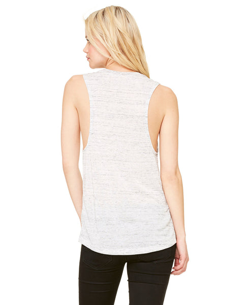 Boy Maker White Marble Muscle Ladies Tank perfect for moms of boys