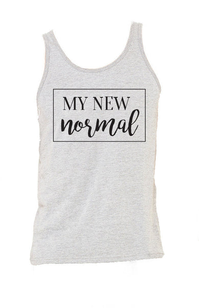 NEW My New Normal Athletic Heather Unisex Comfort Tank