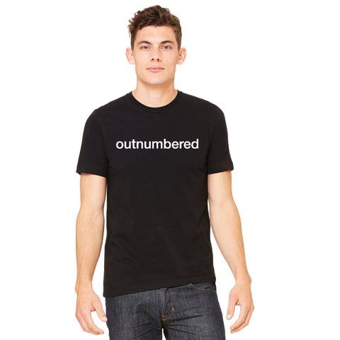 Outnumbered Mens/Unisex Cotton Bella+Canvas Tshirt for Dads, dads of multiples, twin dads and triplet dads