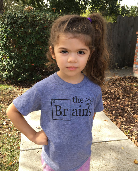 """The Brains"" Infant and Toddler Triblend Tee"