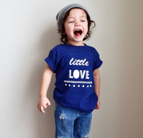 Little Love American Apparel Triblend Blue Toddler Tshirt