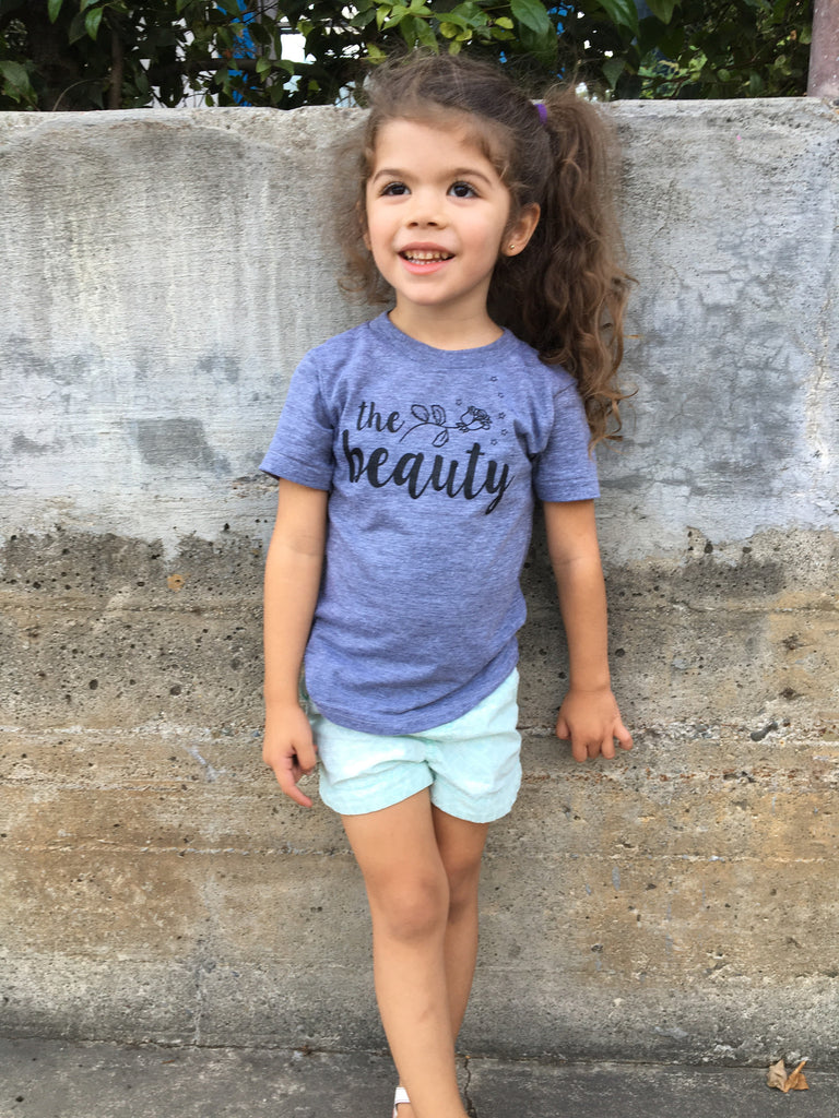 """The Beauty"" Infant and Toddler Triblend Tee"