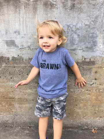 """The Brawn"" Infant and Toddler Triblend Tee"