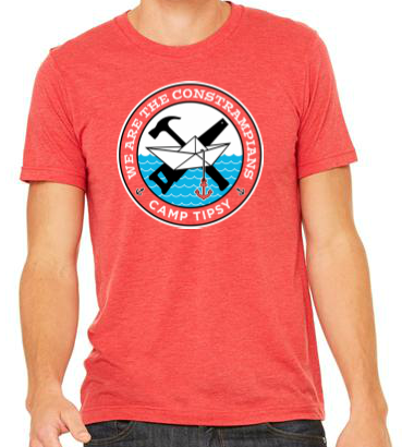 Camp Tipsy: Constrampians Red Adult T-shirt (M)