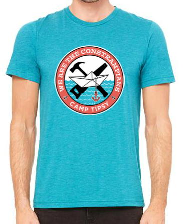 Camp Tipsy: Constrampians Adult Teal t-shirt (Large)