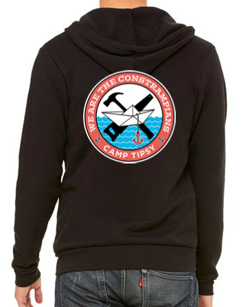 Camp Tipsy: Constrampians Adult Black Hoodie (Small)