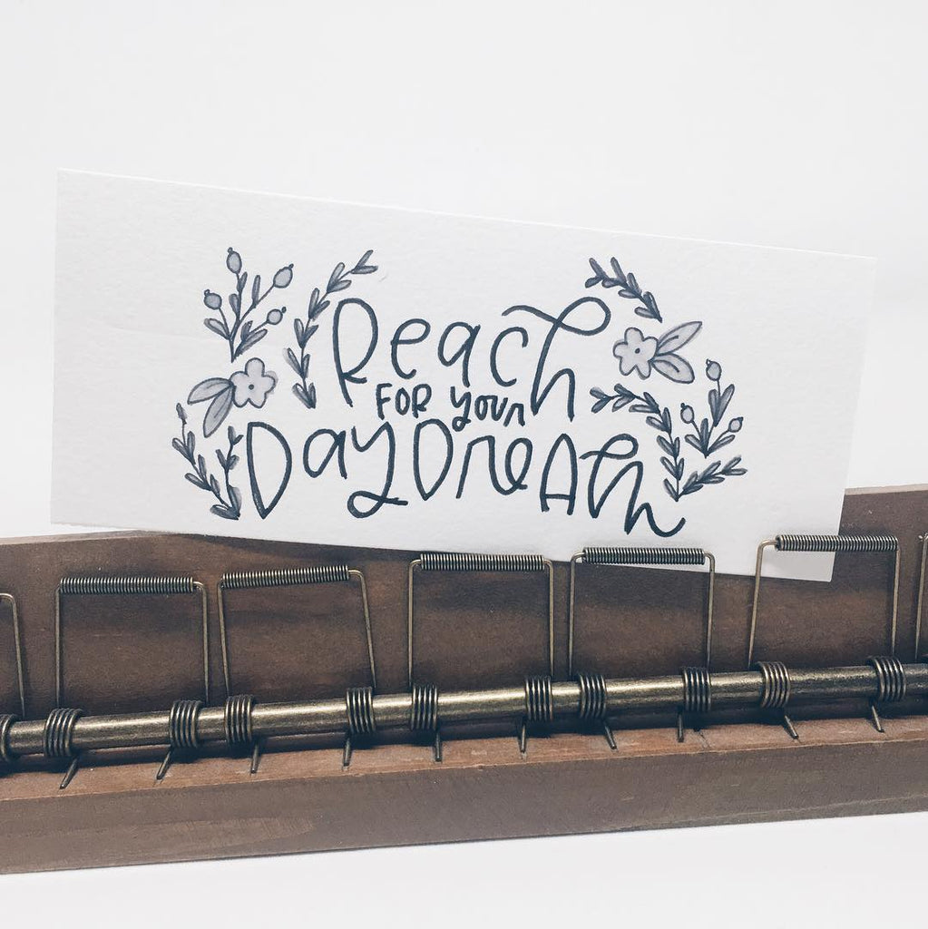 Reach for Your Daydream. Hand lettered art. — Wanderlove Press