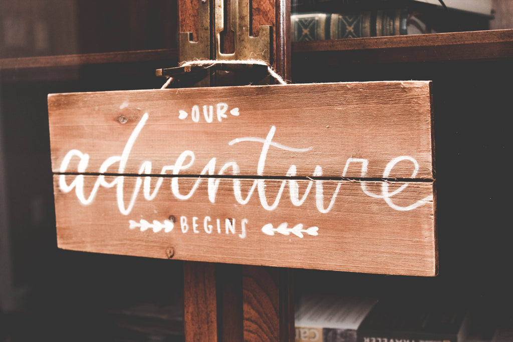 Hand painted wood signage customized for weddings, events, and the home. — Wanderlove Press