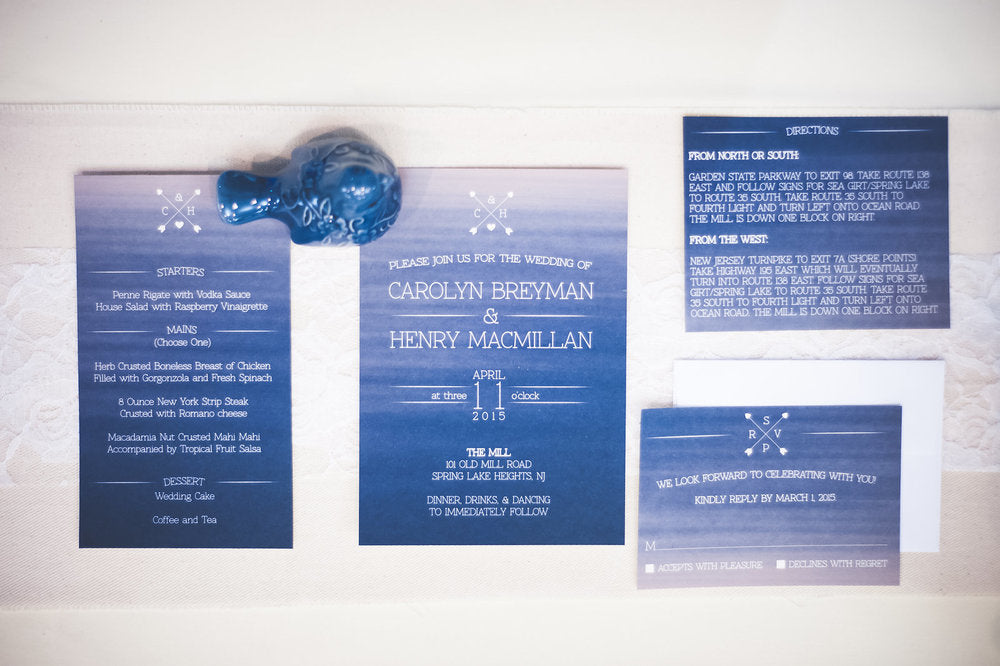 Watercolor Wedding Invitations by Wanderlove Press