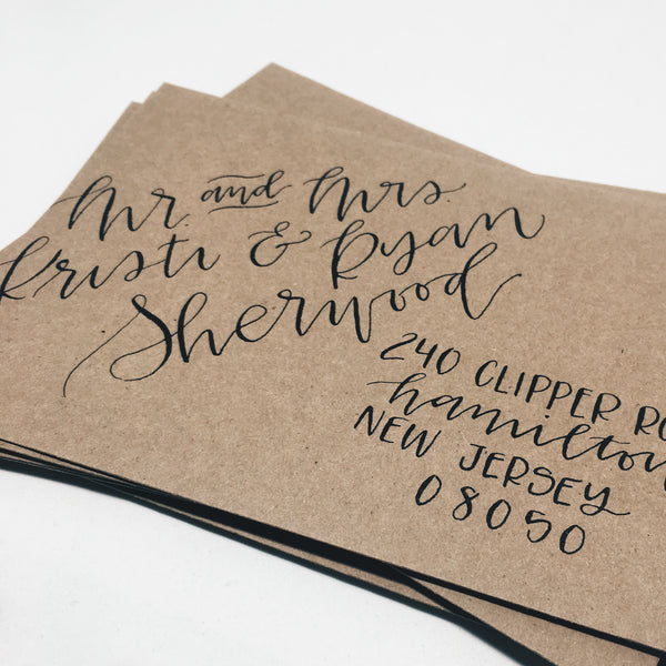 Wedding Envelope Addressing
