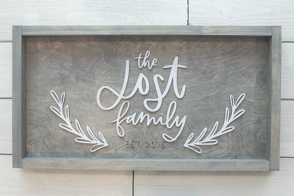 Family Name Farmhouse Sign