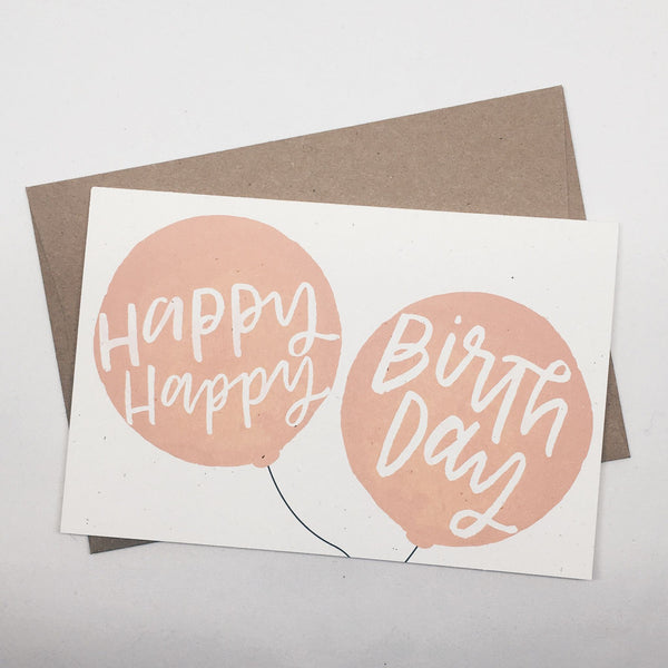 Happy Birthday Balloon | Card by Wanderlove Press Co.