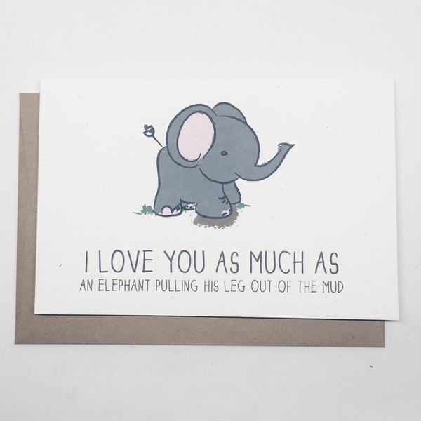 Elephant Love | Anniversary Card by Wanderlove Press Co.