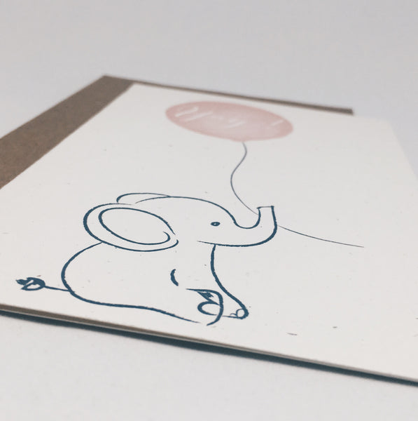 Yay Elephant | Congratulations Card by Wanderlove Press Co.