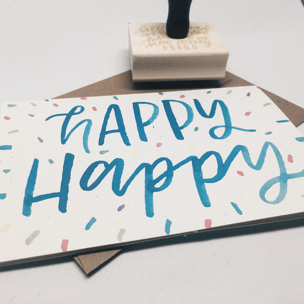 Happy Happy | Birthday Card by Wanderlove Press Co.