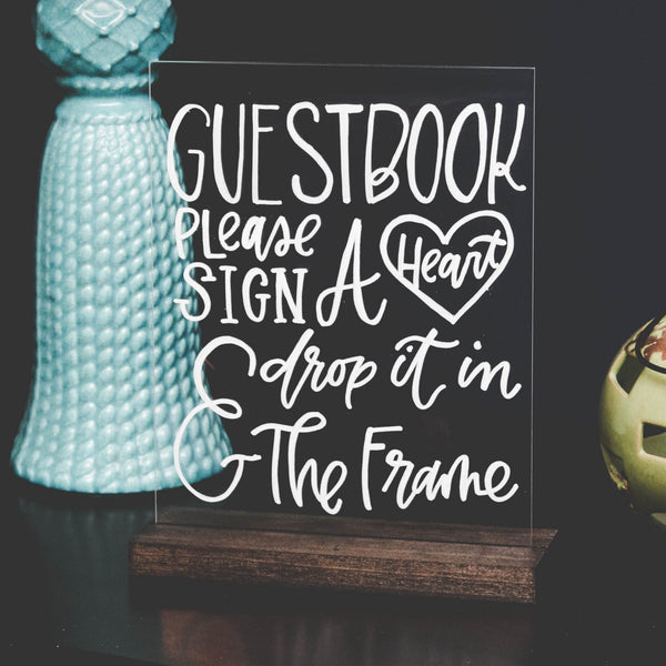 Guestbook Acrylic Sign