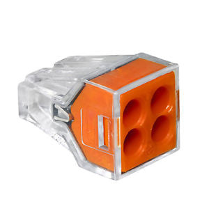 Orange 4‑Port Pushwire Connectors