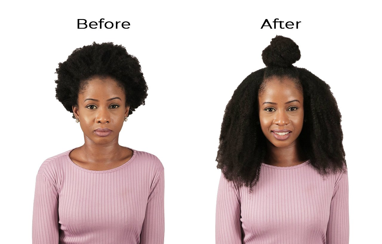 100 Human Natural Hair Extensions For Afro Curly Hair Types Uk Toallmyblackgirls