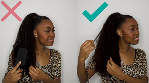 curly ponytail extensions detangle