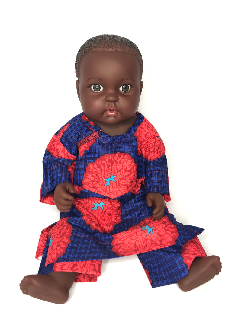 Black Dark Skinned Baby Doll in Ankara 'BoBo'