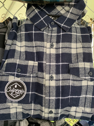 Navy Patch Flannel