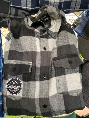 Black & White Patch Flannel