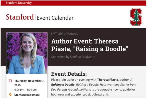 Stanford Bookstore Author Event