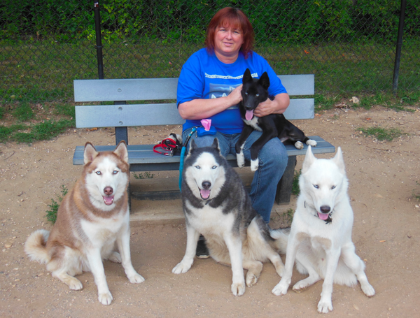 How a husky pack has helped their mom survive cancer