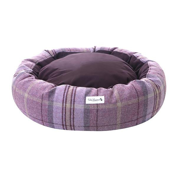 Pink Shetland Wool Cocoon Dog Bed