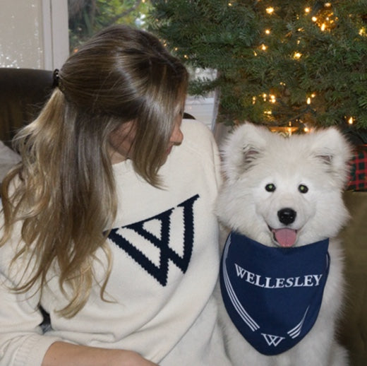 Wellesley College Dog Bandana