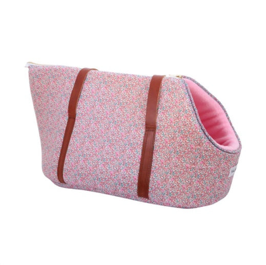 Rose Pink Liberty Print Dog Carrier
