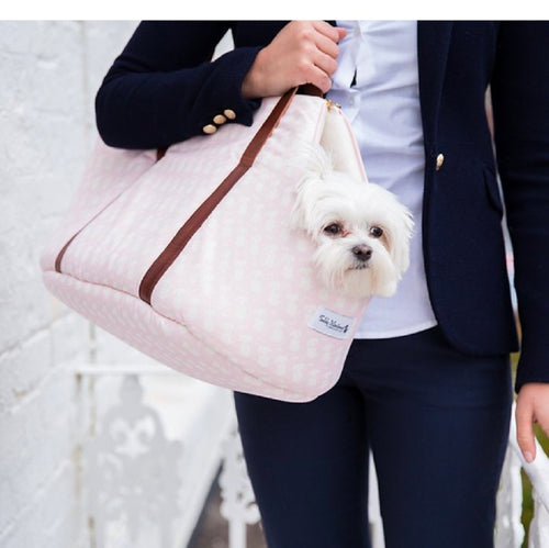 Pink Signature Print Luxury Dog Carrier