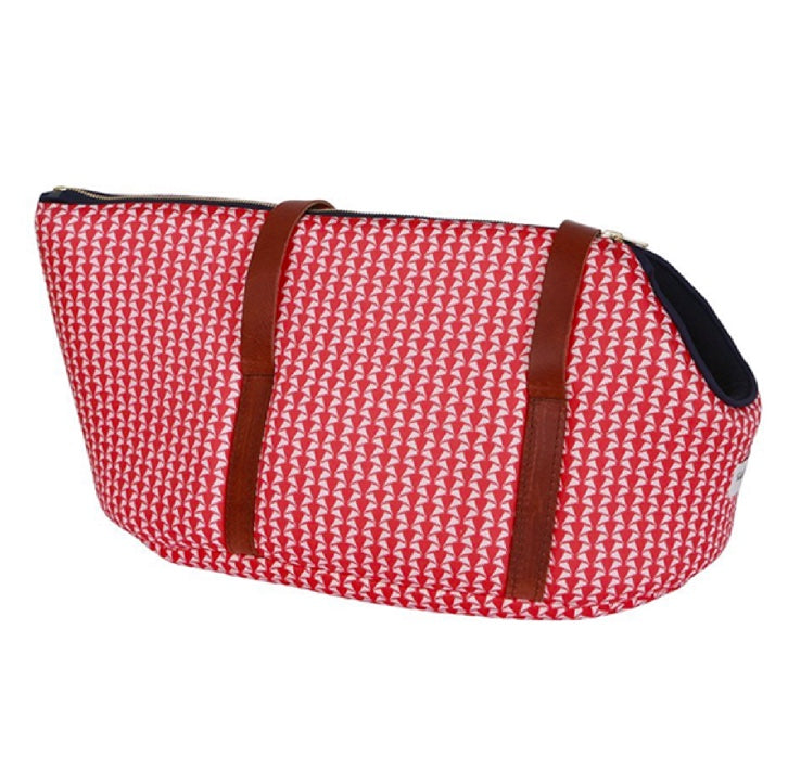 NEW Red Liberty Print Luxury Dog Carrier