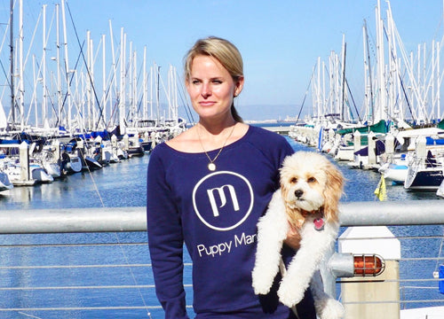 Puppy Mama Stylish Sweatshirt - Navy Wide Neck (Pre-Order Today!)