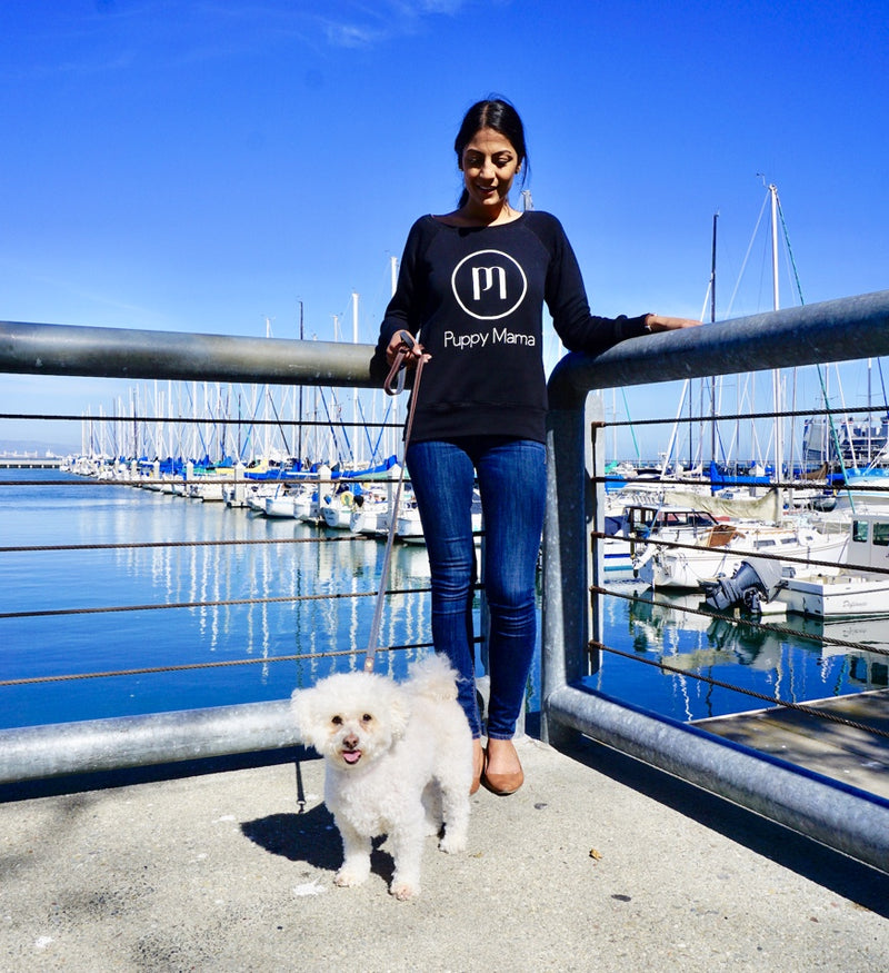 Puppy Mama Stylish Sweatshirt - Black - Shop dog mom apparel and doodle mom gifts online!