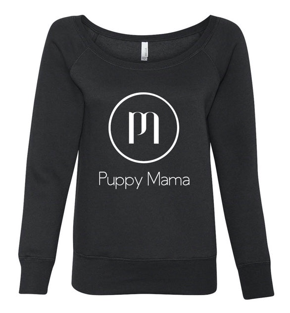Puppy Mama Stylish Sweatshirt - Black