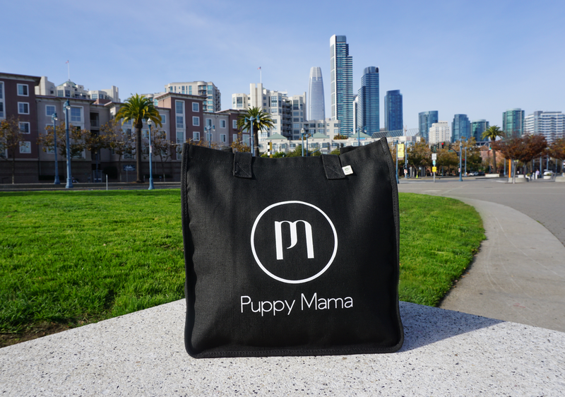 Black econscious Stylish Puppy Mama Tote Bag - Shop dog mom apparel and doodle mom gifts online!