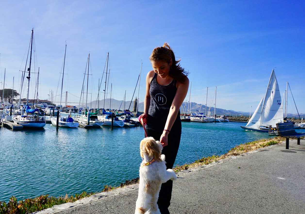 Black Puppy Mama Tank Top - Style for Golden Retriever Moms!