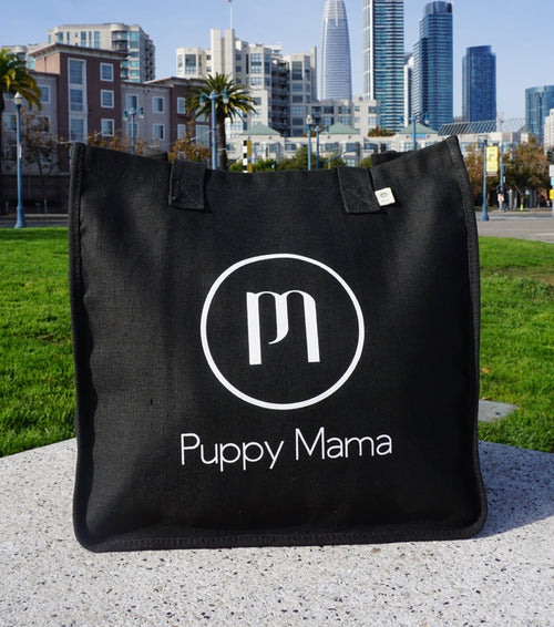 Black econscious Stylish Puppy Mama Tote Bag (Wholesale Order)