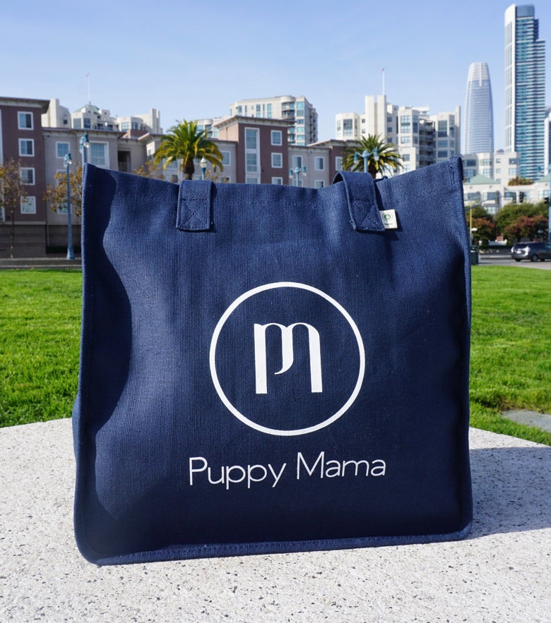 Navy Blue econscious Stylish Puppy Mama Tote Bag (Wholesale Order)