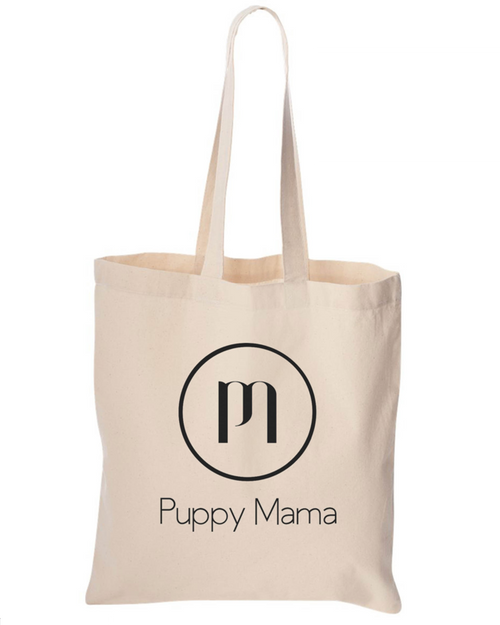 Puppy Mama Cotton Canvas Tote Bag - Limited Supply!