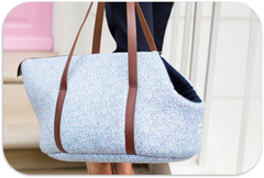 Sweet Blue Liberty Print Dog Carrier
