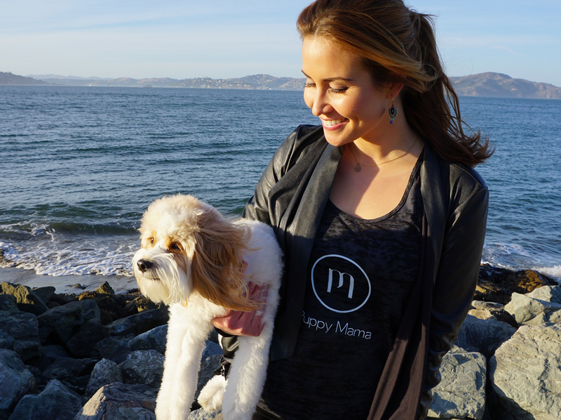 Puppy Mama Black Tank Top - As Seen in VOGUE & GQ Magazines! - Shop dog mom apparel and doodle mom gifts online!