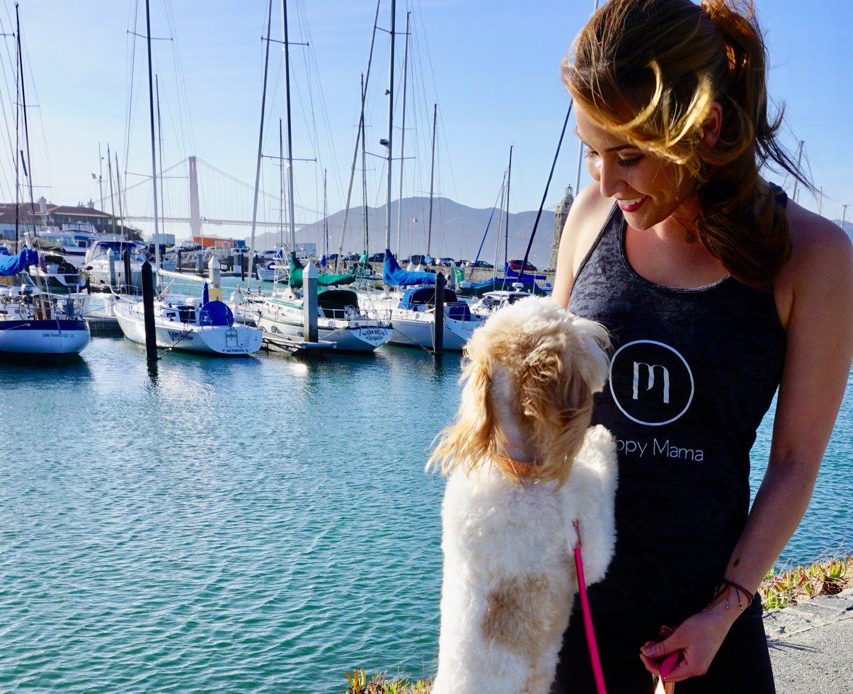 Black Puppy Mama Tank Top - Style for Goldendoodle Moms!