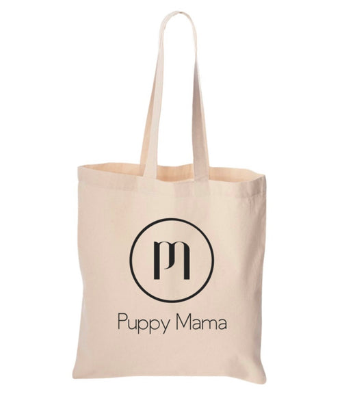 Puppy Mama Cotton Canvas Tote Bag (Wholesale Order)