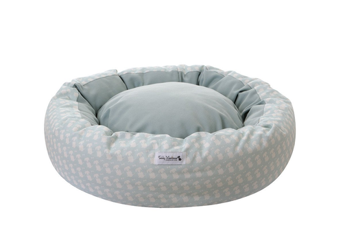 Duck Egg Signature Print Cocoon Puppy Bed