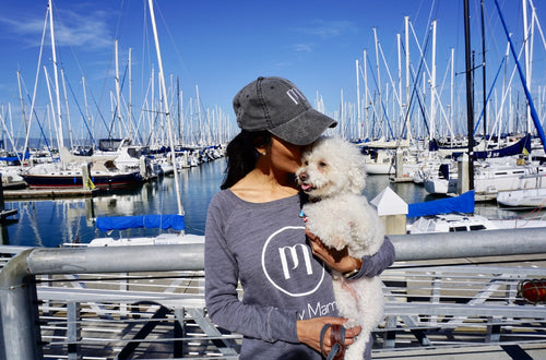 Puppy Mama Stylish Sweatshirt - Grey Scoop Neck (Available Today)