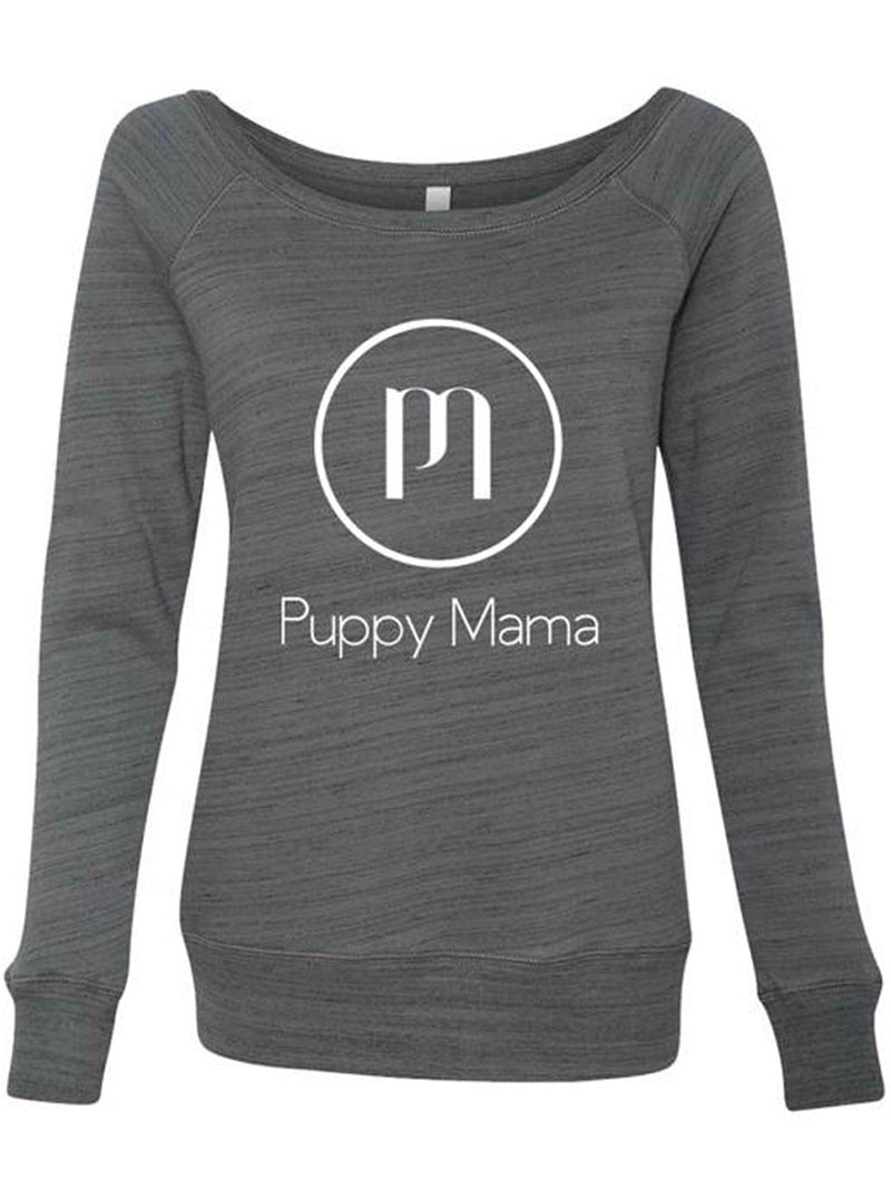 Puppy Mama Stylish Sweatshirt - Marble Grey (Wholesale Order) - Shop dog mom apparel and doodle mom gifts online!