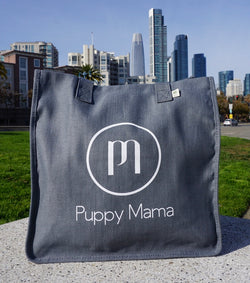 Charcoal econscious Stylish Puppy Mama Tote Bag (Wholesale Order)